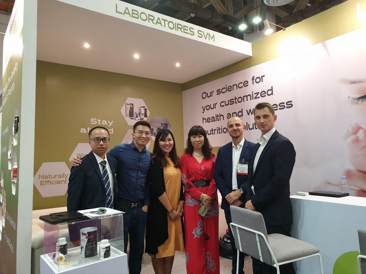 Đội ngũ Laboratoires SVM & EUSTA tại Vitafoods Asia 2018